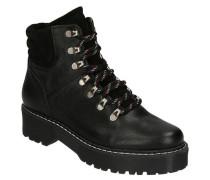 Boots, Glattleder, leichtes Plateau, Reißverschluss