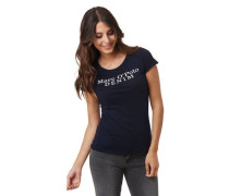 T-Shirt, Flammgarn, Logo-Print, Baumwolle