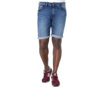 Jeans-Shorts Regular Fit Knitterfalten dezenter Used-Look
