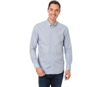 Hemd, Button-Down-Kragen,All Over-Print, für Herren, hell