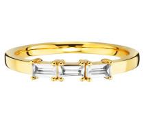 Ring 925/- Sterling Silber vergoldet Weißtopas