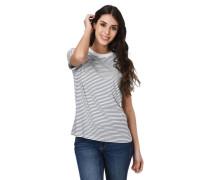 T-Shirt umgeschlagene Ärmel gestreift