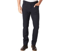 Stoffhose, gemustert, Five-Pocket-Style