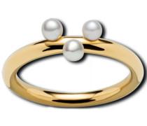 """Ring """"MR3330-45"""", Edelstahl mit Süßwasserzuchtperlen, 56"""