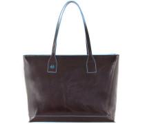 Blue Square Shopper Tasche Leder  cm
