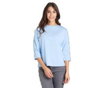 Shirt 3/4-Arm Baumwolle lockerer Schnitt Lochnieten