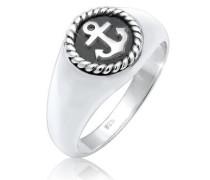 Ring Siegelring Anker Anchor Maritim Oxid 5er  mm