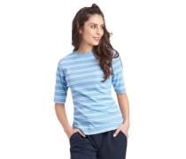 Shirt Halbarm gewellter Rundhalsausschnitt