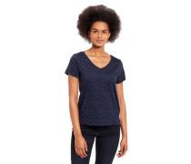 T-Shirt reine Baumwolle V-Ausschnitt Animal Print