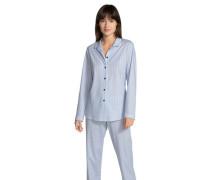 Schlafanzug langarm gestreift
