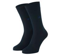 """Socken """"Dublin 015"""" Rippstrick-Bündchen"""