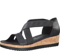 Sandaletten, elatische Einsätze, Keilabsatz,