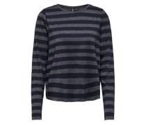 Langarm-Shirt, gestreift, /grau, S