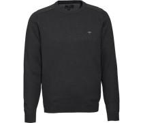 Pullover, Baumwolle, Rundhals, Logo-Stickerei, Riipbund, für Herren, XL