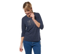 Shirt 3/4-Arm gestreift Strass-Besatz