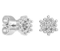 Ohrstecker, mit Diamanten, Weißgold 375, zus. ca. 0.15 ct.