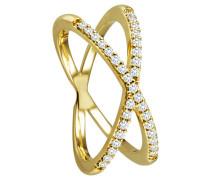Ring 585  mit 33 Diamanten, zus. ca. 0,25 ct.