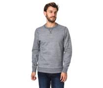 Sweatshirt Baumwoll-Mix Rundhalsausschnitt meliert