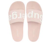 Slides Marken-Schriftzug vorgeformtes Fußbett