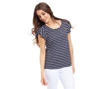 T-Shirt, Flatterärmel, Rundhalsausschnitt