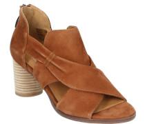 Sandaletten, runder Absatz, Wildleder,