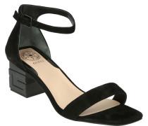 Sandaletten, Veloursleder, Blockabsatz, für Damen