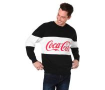 Sweatshirt Baumwoll-Mix Print-Muster Rundhalsausschnitt