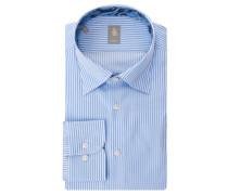 Businesshemd Custom Fit Streifen Baumwolle