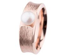 Ring, Edelstahl, Roségold beschichtet, Süßwasser-Buttonperle ø 7 mm R373.5