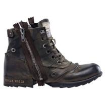 """Boots """"CLUTCH"""", eckiges Karree, Kontrastnähteeder"""