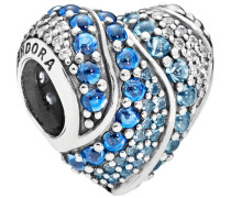 "Charm Aqua Heart Moments ""797015NABMX"", 925er Silber"