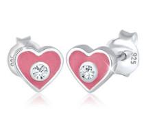 Ohrringe Kind Herz Swarovski® Kristalle 5 Sterling