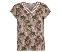 Blusenshirt florales Muster V-Ausschnitt Große Größen