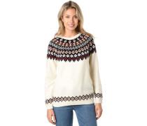 Pullover, Norweger-Musterchmucksteine, für Damen, /rot