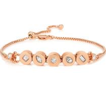 Armband mit Kristallen rosévergoldet