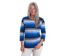 Shirt 3/4-Arm Streifen Kontrast