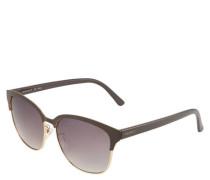Sonnenbrille Browline Material-Mix zweifarbig Farbverlauf