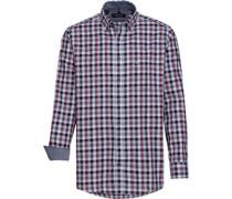 Karo-Freizeithemd, 1/1 Arm, Button-Down, Comfort Fit, dunkel
