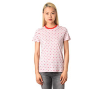 T-Shirt meliert Allover-Print