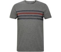 T-Shirt gestreift meliert XL