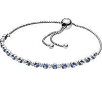 """Armband Blue & Clear Sparkle """"598517C01"""", 925er , 25"""