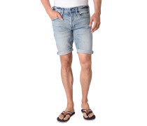 Jeans-Shorts Waschung Used Look