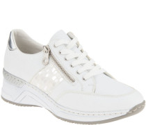 Sneakerchnürung, Reißverschluss, Plateau, für Damen