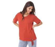 T-Shirt uni Binde-Detail elastisch
