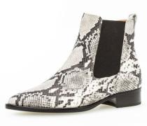 Chelsea Boots in Schlangenlederoptik, /weiß, 38 1/2