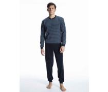 Frottee-Bündchen-Pyjama Relax Terry
