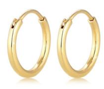 Ohrringe Creolen Ohrhänger Basic Klassiker 5 Gelb