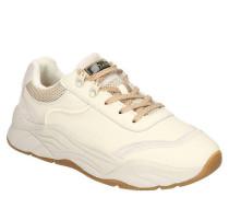 "XL-Sneaker ""Celest"" Leder Mesh-Einsätze Kontrast-Details"