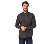 Freizeithemd Regular Fit Button-Down-Kragen meliert