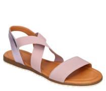Sandalen, Glattlederetallic-Details, Stretch-Riemen